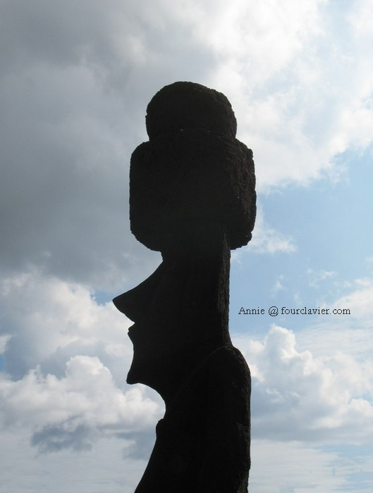 Silhouette typique du moai