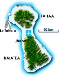 Carte de Raiatea Thaa