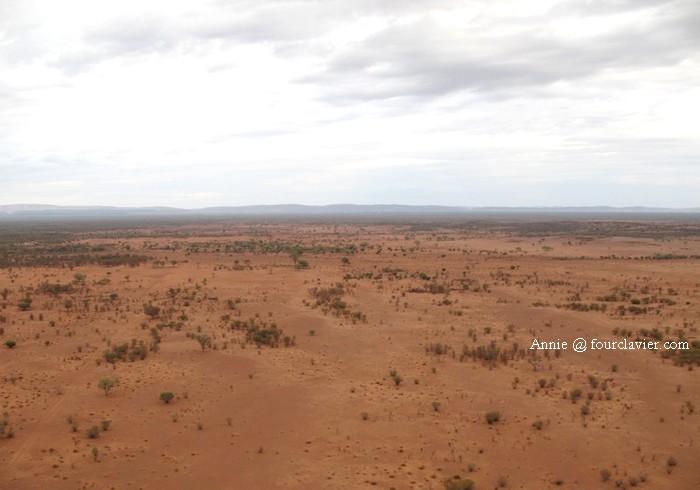 Outback vue du ciel