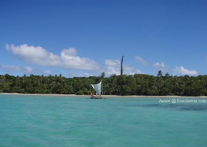 Pirogue à voile, île des Pins