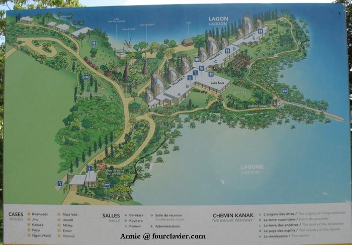 plan du centre Tjibaou