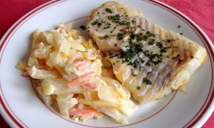 Pavé de cabillaud avec fenouil et carottes – recette légère