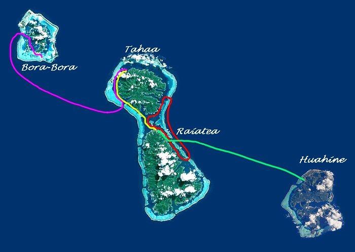 Les étapes de la Hawaiki Nui Va'a