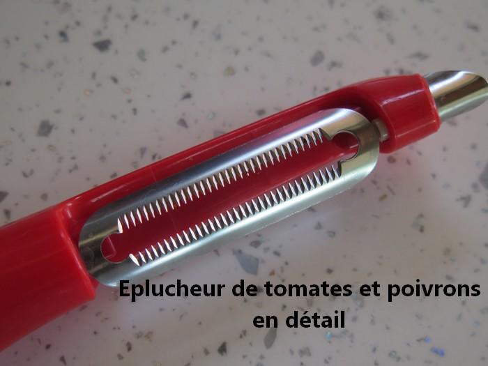 Eplucheur pour tomates et poivrons