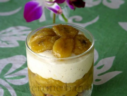 Verrine à la banane, dans l'esprit d'un cheesecake