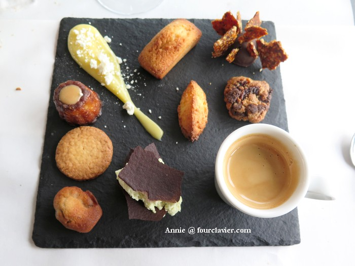 Café gourmand de la Table de la Chèze