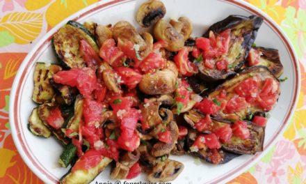 Légumes à la plancha, fin d'été