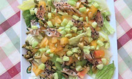 Salade au maquereau au poivre