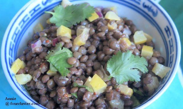 Salade de lentilles au citron confit
