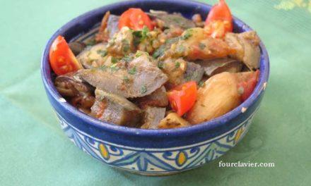 Aubergines aux saveurs marocaines