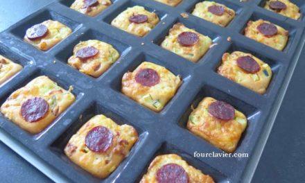Muffins au chorizo et courgette