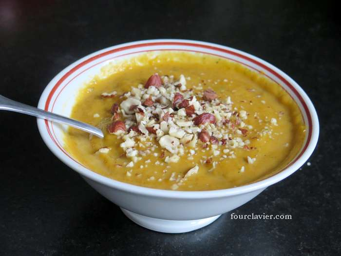 Soupe aux carottes et patates douces