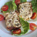 Terrine de poireaux au thon et fromage de chèvre