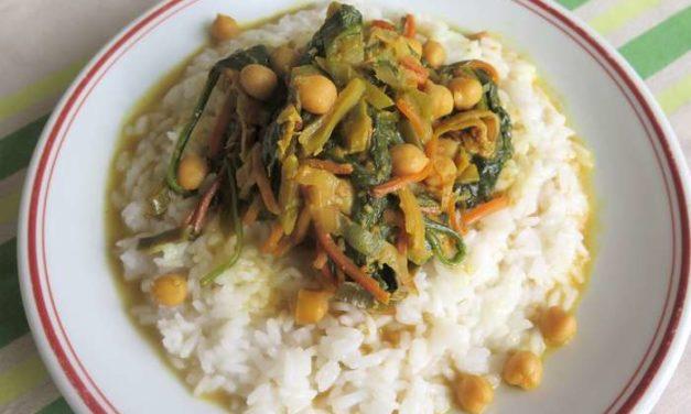 Curry aux épinards et pois chiches